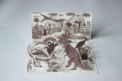 Dinosvět - vystřihovánka