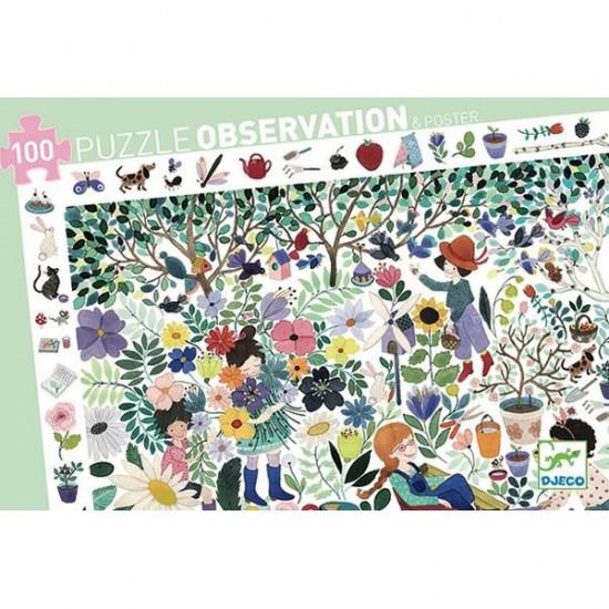 Puzzle - Květinová zahrada - 100 ks