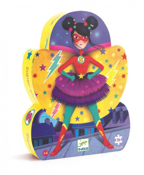 Puzzle - Odvážná superhrdinka - 36 dílků