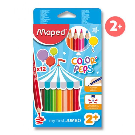 Pastelky Maped Color´Peps Jumbo - 12 barev