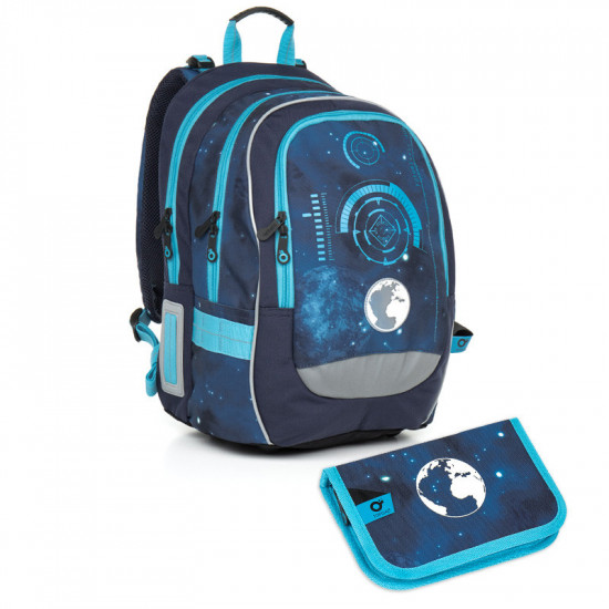 Školní batoh a penál Topgal - CHI 799 D Blue + CHI 813 7b23efe859
