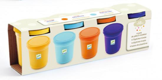 Hravá modelína - náhradní barvy pro kluky - 4 ks