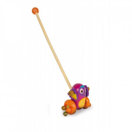 Dřevěná tlačící hračka - sova