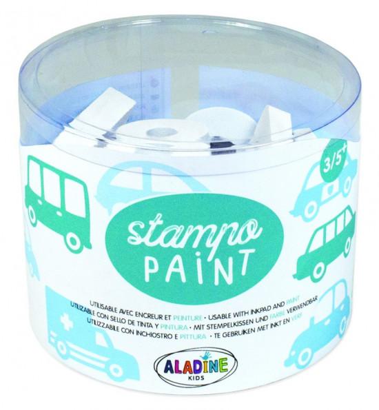 StampoPaint, malovací pěnová razítka - auta