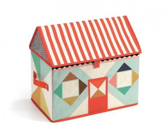 Textilní box na hračky - domek