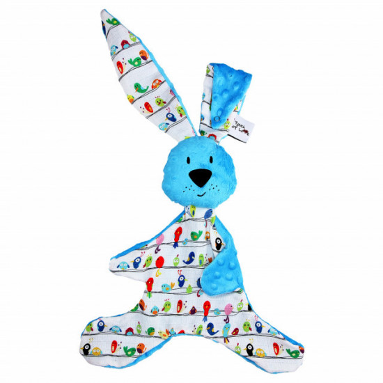 Mom's Care - modrý králíček - muchláček do postýlky