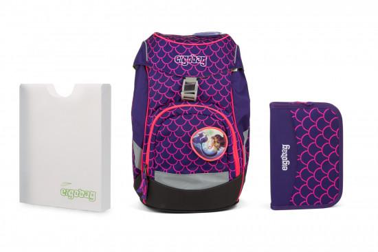 Školní set Ergobag prime Fluo růžový - batoh + penál + desky