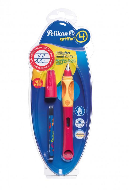 Bombičkové pero Griffix 4 pro praváky - červené