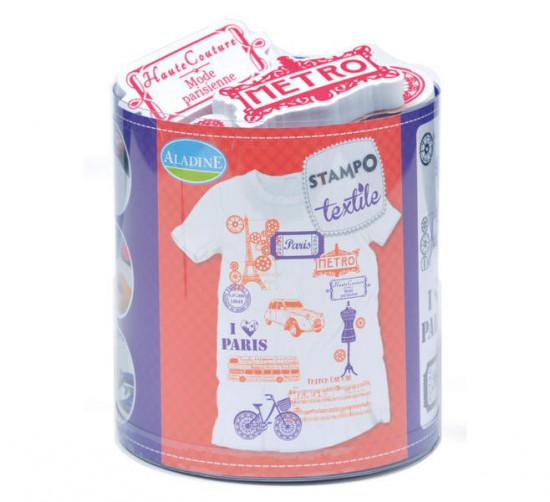 Stampo textil - romantická Paříž  - 12 ks