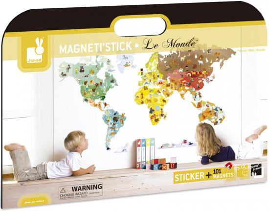 Magnetická samolepící dekorace - svět