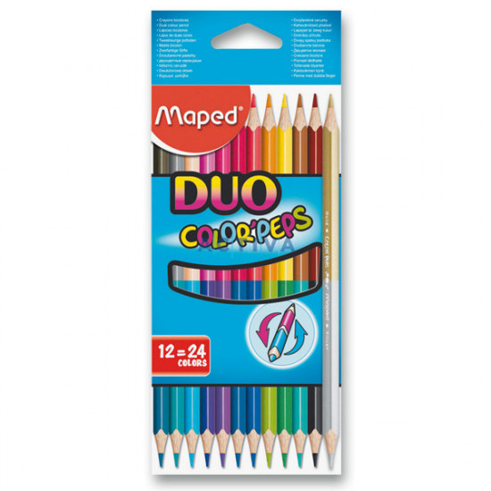 Pastelky Maped Color´Peps Duo - oboustranné pastelky