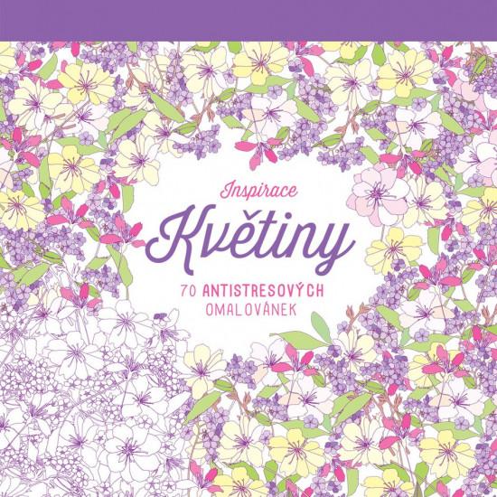 Květiny - 70 Antistresových omalovánek