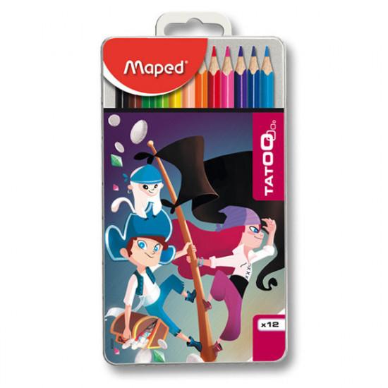 Pastelky Maped Color´Peps Metal Tatoo - 12 barev