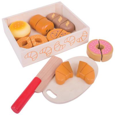 Bigjigs - Krájení pečiva v krabičce
