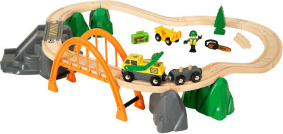 Brio set - Vláčkodráha s nákladním vlakem