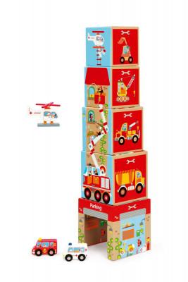 Pyramida Garáž s autíčky a helikoptérou