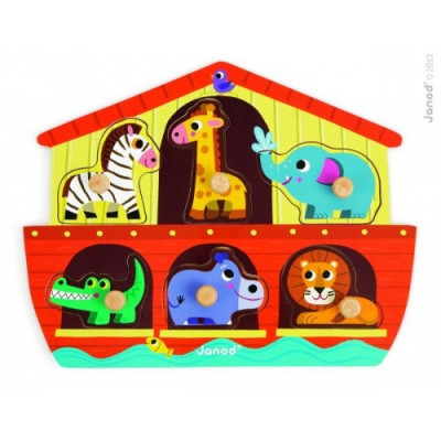 Noemova archa - dřevěná vkládačka