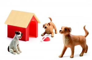 Domeček pro panenky - máme doma pejsky