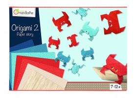 Sada na origami s krabem