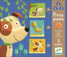 Sada 3 puzzle pro nejmenší Pejsci
