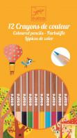 Barevné pastelky - 12 ks