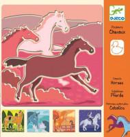 Kreslící šablony Koně