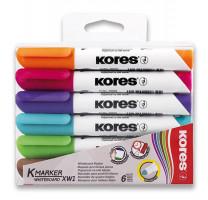 Popisovač Kores K-Marker Whiteboard - sada 6 barev