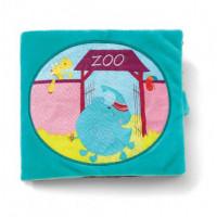 Lilliputiens - Textilní knížka - Slon Albert v ZOO