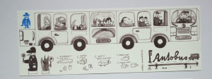 Autobus - vystřihovánka a skládačka