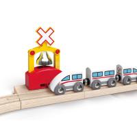 Kolejnice s automatickým zvonkem