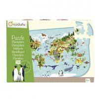 Puzzle - Zvířata na planetě - 76 ks