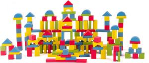 Stavebnice kostky barevné - 200 ks