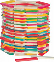 Stavebnice Simona přírodní/barevná - 200 ks