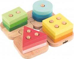 Skládací tvary na puzzle podložce
