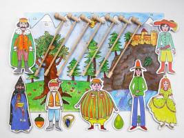 Marionetino -  Loutková pohádka s tyčkami - Dlouhý, široký a bystrozraký