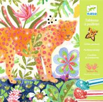 Výtvarná hra s třpytkami - tropická zvířata