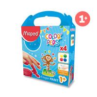 Prstové barvy Maped Color'Peps - 4 x 80 ml