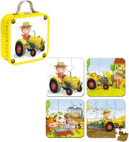 Sada puzzle - traktorista Petr