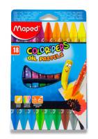 Olejové pastely Maped Color´Peps - 18 barev