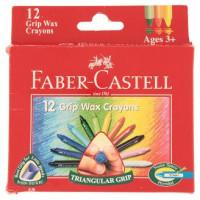 Voskovky Faber-Castell Wax Triangular Crayons - 12 barev