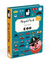 Magnetická kniha - Zábavné tváře - chlapci