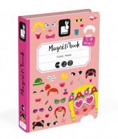 Magnetická kniha - Zábavné tváře - dívky
