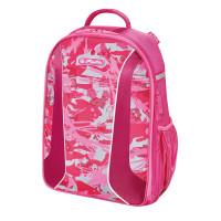 Školní batoh Herlitz Be.bag airgo - Růžová kamufláž