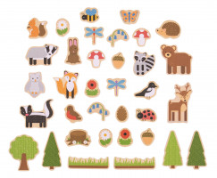 Bigjigs - magnetky lesní zvířátka