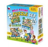Moje rodina - soubor puzzle 3v1