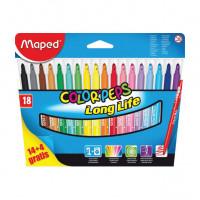 Dětské fixy Maped Color´Peps - 18 barev