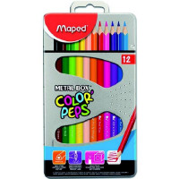 Pastelky Maped Color´Peps Metal Box - 12 barev