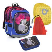 Velký školní set Topgal - CHI 792 I + CHI 824 I + pytlík na přezůvky + pláštěnka