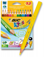 Pastelky Bic Kids Evolution Triangle - 12 barev