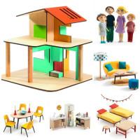 Domeček pro panenky - můj malý dům -  velký set s rodinkou a nábytkem